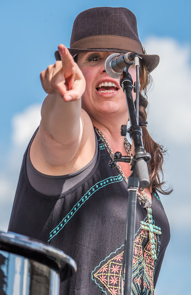 Sarah Morrow--Dr. John and the Night Trippers--17th Annual Twin Cities Jazz Festival 2015-CHS Stadium, St. Paul MN.
