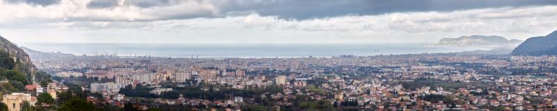 Palerme vue de Monreale, Sicile, Italie
