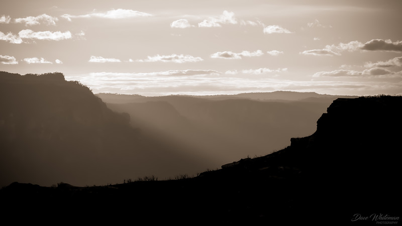 Sunset over the Grose Valley