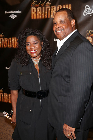 From left, actress Loretta Devine and husband Glenn Marshall pose during the arrivals for the opening night performance of