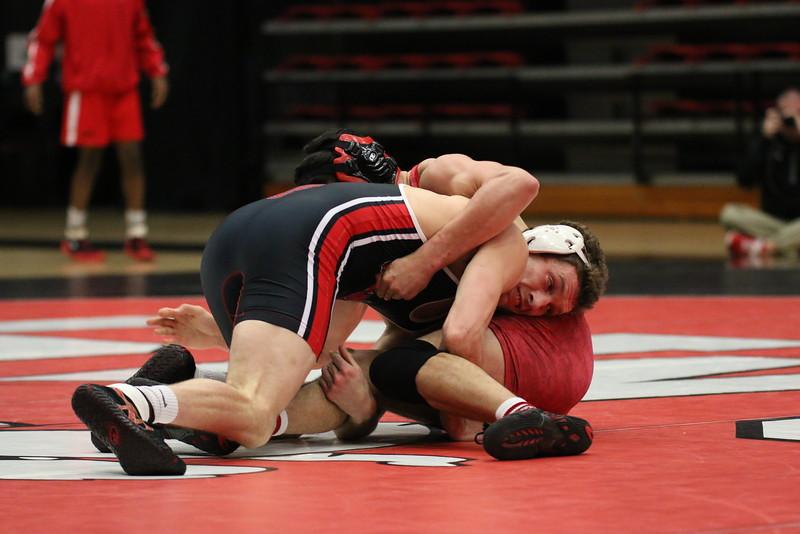 Wrestling defeats VMI 31-9 in season home opener Wednesday night.  Kyle Ash  fall B.J. Crozier (VMI), 3:00 – 17-3