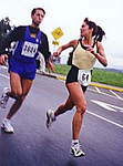 1999 UVic 5K - Colleen Grady has something to say