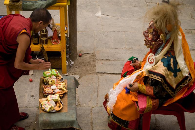 Guru Rimpoche, The third cham dance of Mani Rimdu Festival.