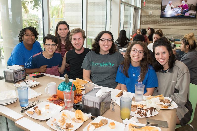 Islander students enjoy a holiday feast put on by Texas A&M Corpus Christi Islander Dinning.