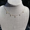 1.01ctw Trillion Rose Cut Diamond Scatter Necklace 1