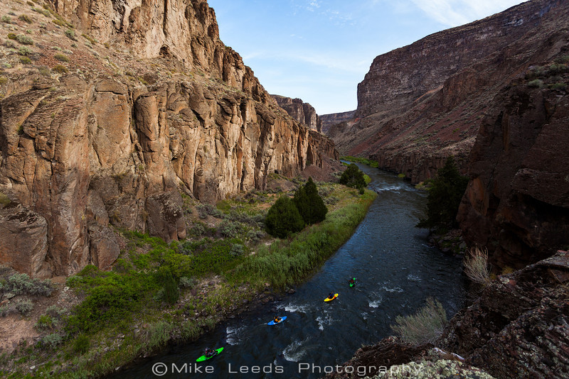 Moments after leaving camp at Clover Creek on the Bruneau River in Idaho.