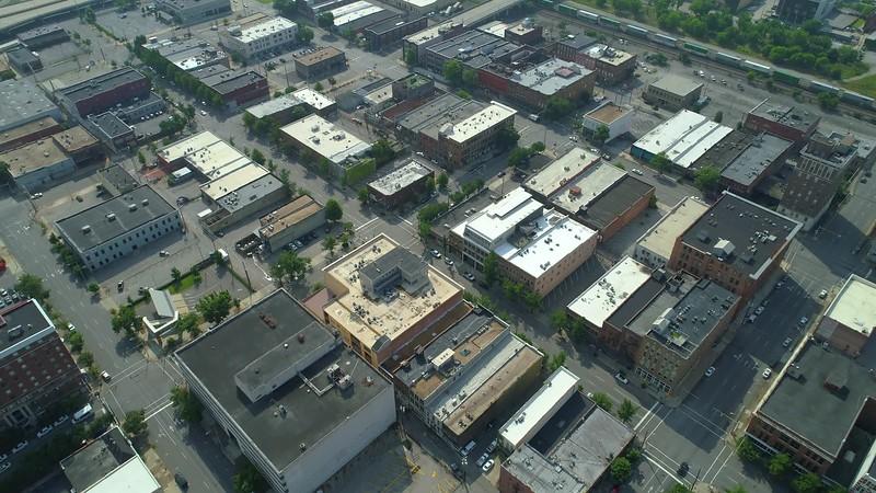 Birmingham Alabama drone aerial flyover 4k 24p