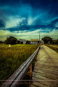 Pier to the shrimp boats bringing fresh shrimp to Coco's Sunset Grille, Tybee Island, GA