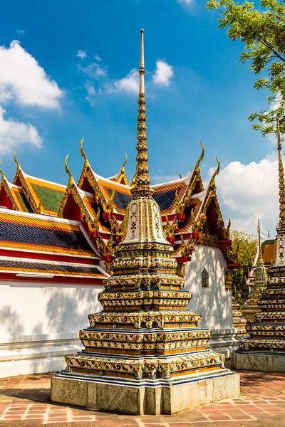 Small tiled stupa