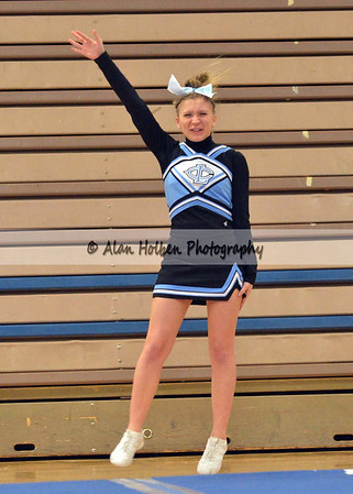 Cheer at LCC - Lansing Catholic varsity - Round 2 - Jan 25