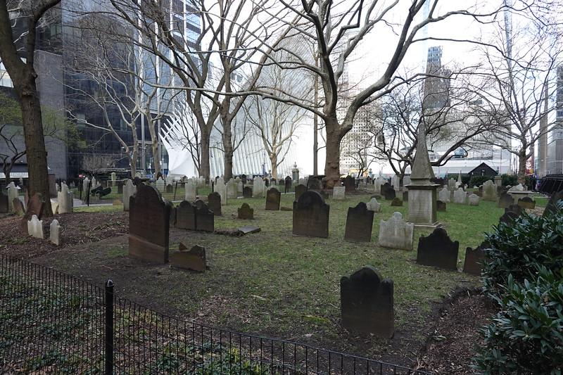Churchyard of St Paul's Chapel, Manhattan.