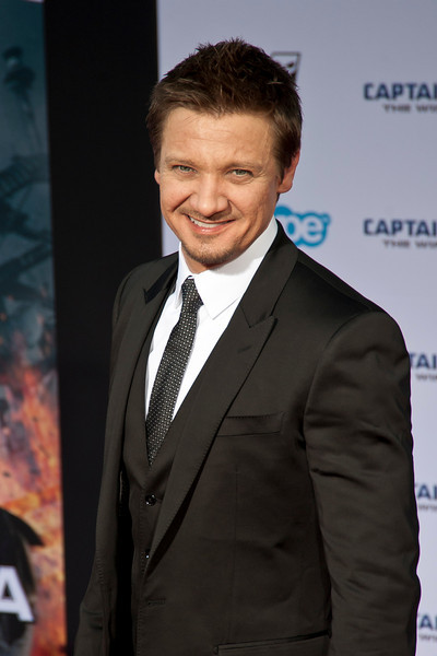 HOLLYWOOD, CA - MARCH 13: Actor Jeremy Renner arrives at Marvel's 'Captain America: The Winter Soldier' premiere at the El Capitan Theatre onThursday,  March 13, 2014 in Hollywood, California. (Photo by Tom Sorensen/Moovieboy Pictures)