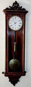 VR-139 - Beidermeier period week-running Viennese 3-lite timepiece by Josef Rammel in Wien