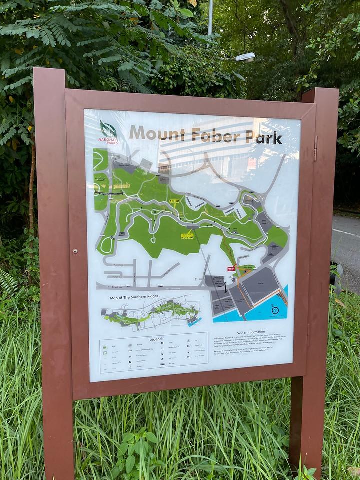 Map at the start of Marang Trail