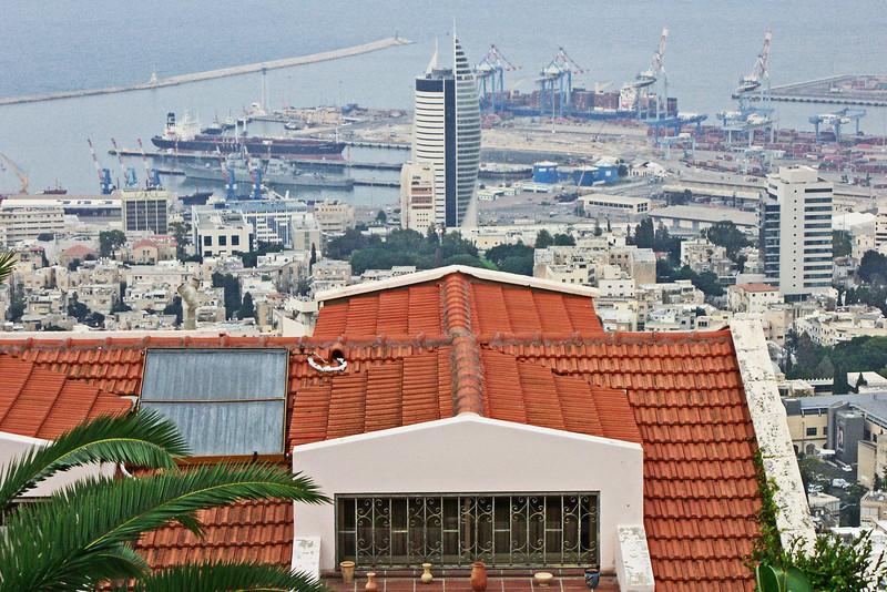 36-Haifa Port from just below Yefe Nof (Panorama Street).