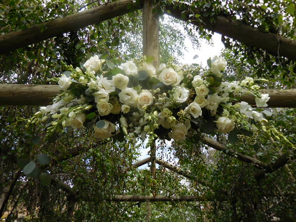 Arch centerpieces ( used later for table) $200
