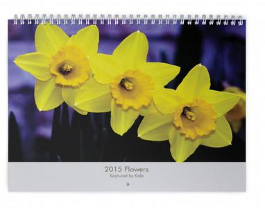 2015 Flowers Wall Calendar