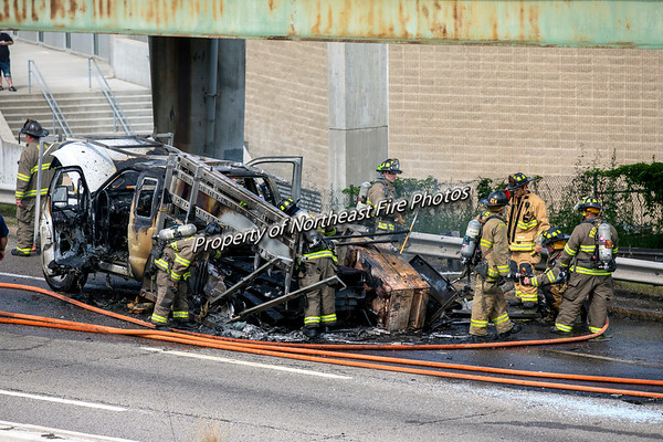 Providence- MVA with fire- Route 95 North- 6/24/2019