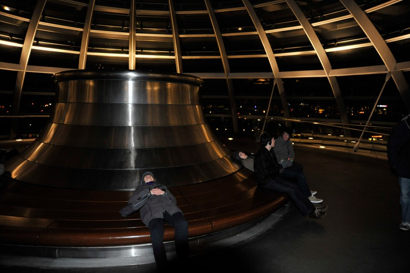 Inside the Reichstag Dome, Berlin.