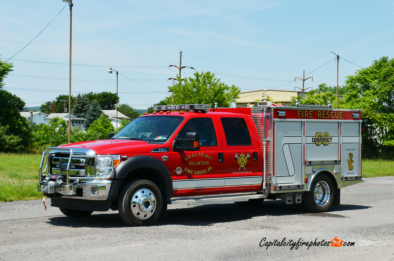 Pine Grove (Hose, Hook and Ladder Fire Co. 1) Brush 58-40: 2011 Ford F-550/Swab 250/300