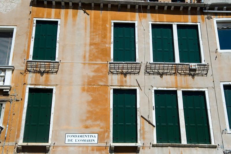Venetian house, Fondamentina de l'Osmarin, Venice, Italy