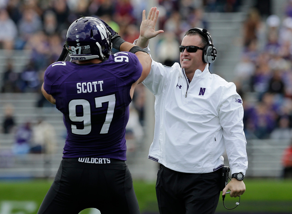 . <b>Pat Fitzgerald</b> <br />Head coach, Northwestern  (Saturday, Sept. 21, 2013) (AP Photo/Nam Y. Huh)