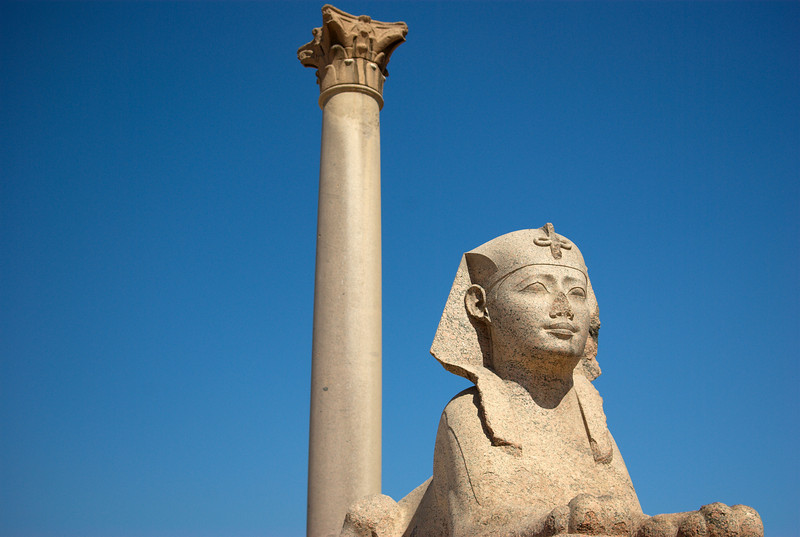 Pompey's Pillar and Serapeum in Alexandria