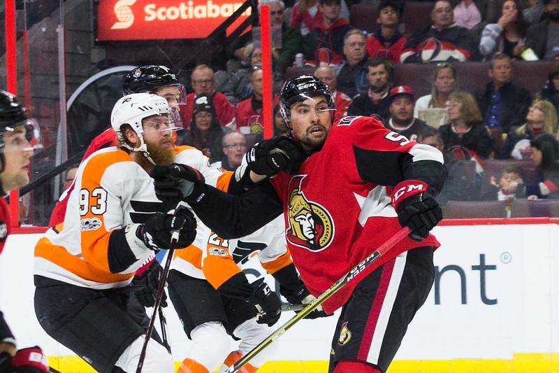 NHL 2017:  Flyers vs Senators October 26