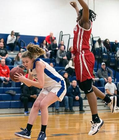 01/06/19 Wesley Bunnell   StaffrrSouthington girls basketball vs Conard on Monday night at Southington High School. Madison Hulten (21).