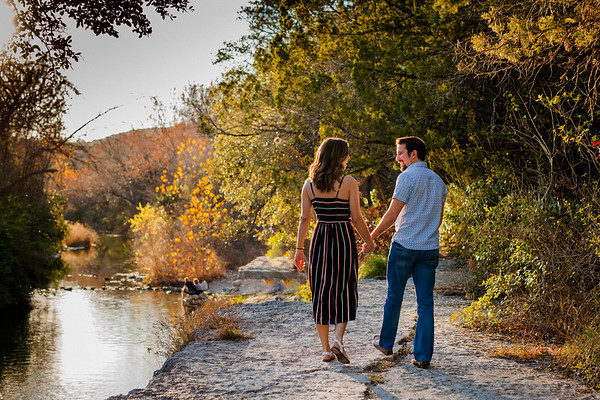 Engagement Session in Bull Creek and 360 Bridge