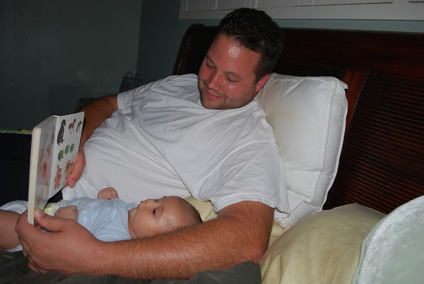 Baby Arthur Reading with Daddy