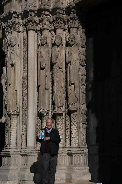 Chartres Cathedral West Facade Jamb Figures with the Author