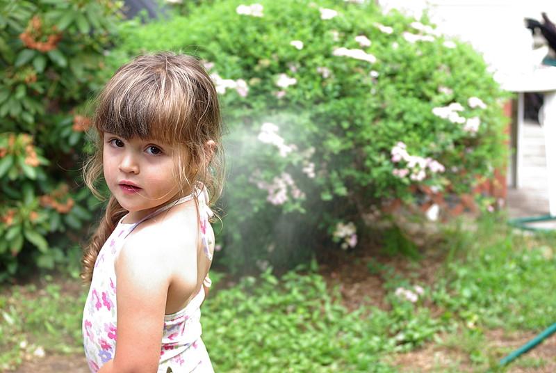 Guen in the garden.