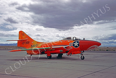 Sharkmouth Grumman F-9 Cougar Airplane Pictures