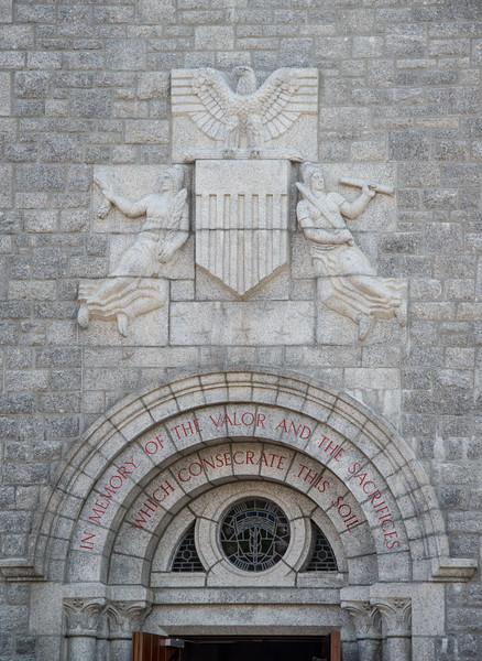 Memorial Chapel front detail