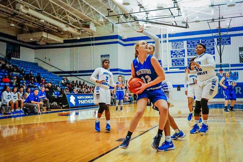 Lady Panthers Varsity vs  Weatherford 01-12-16-12