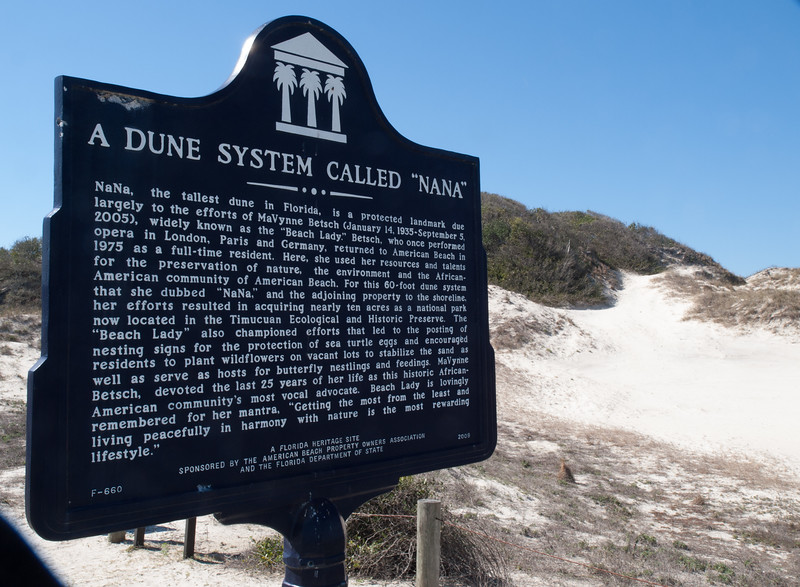 Nana Dunes at American Beach, Florida