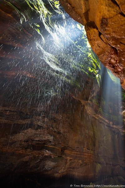 Sunbeams and water drops