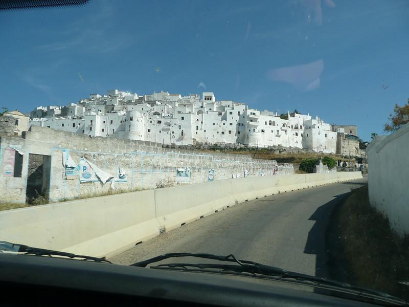 Driving into Ostuni
