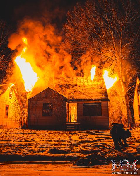 Detroit MI, House Fire 1-30-2021