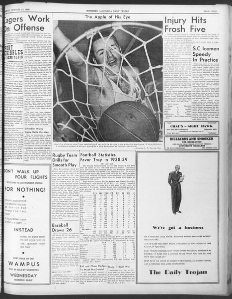 Daily Trojan, Vol. 30, No. 68, January 17, 1939