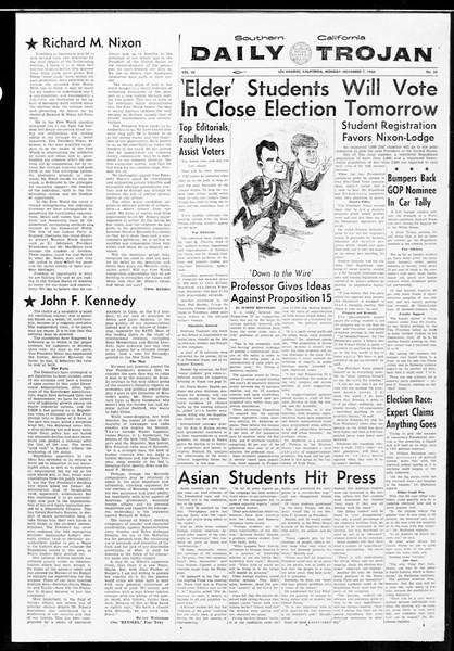Daily Trojan, Vol. 52, No. 35, November 07, 1960