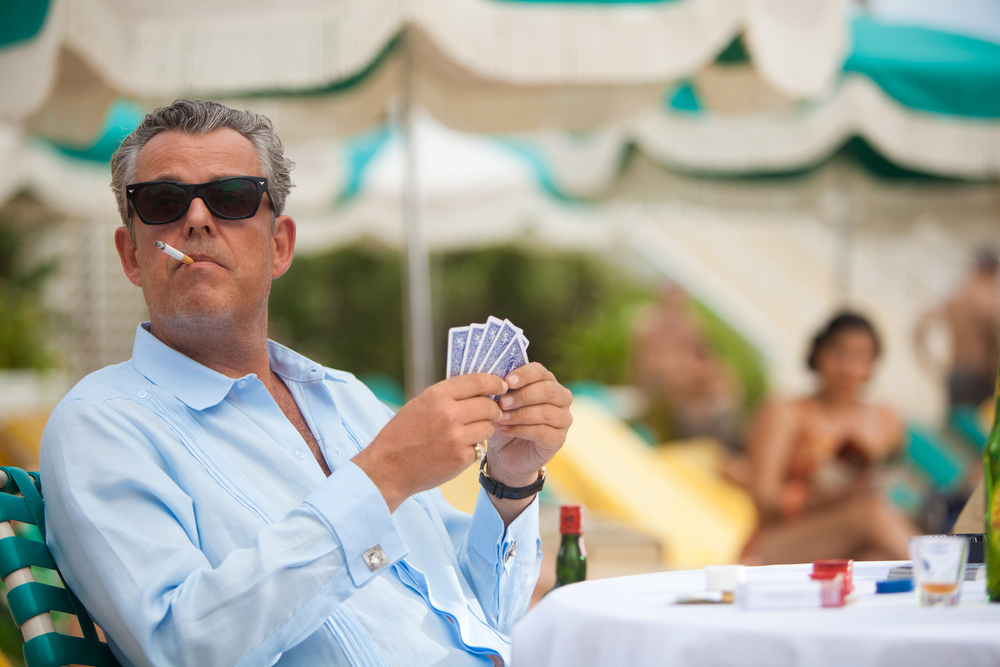 ". This imager released by Starz shows Danny Huston as Ben Diamond in a scene from ""Magic City.\"" Huston was nominated for a Golden Globe for best supporting actor in a series, Thursday, Dec. 13, 2012, for his role in \""Magic City.\""   The 70th annual Golden Globe Awards will be held on Jan. 13. (AP Photo/Starz)"