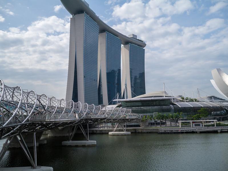 Bridge across to the  Marina Bay Sands hotel
