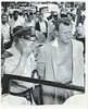 Off Leroy Callahan with suspect Travis Gatewood Hotel Lincoln press 8-8-1957