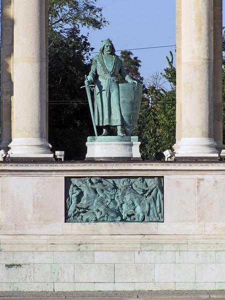 99-One of 14 heroes in the colonnade—Karoly Robert, 1307-1342.