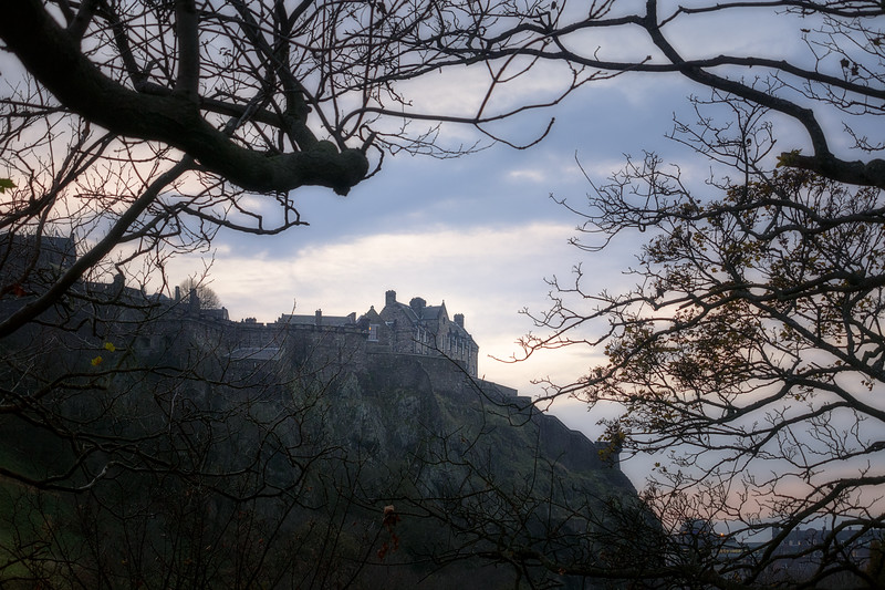 Edinburgh Castle through the Trees
