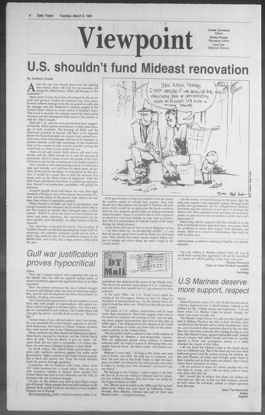 Daily Trojan, Vol. 114, No. 36, March 05, 1991