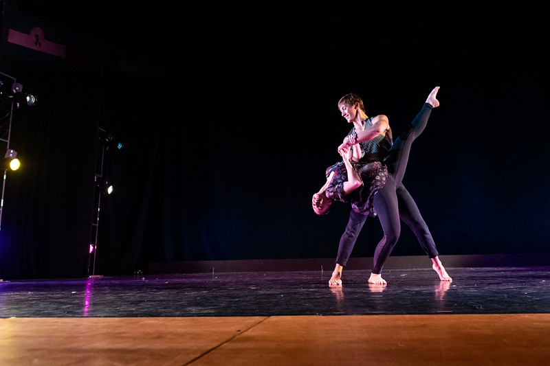 """Baggage Claim,"" was choreographed and performed by Hayley Davison and Hayden McLelland in the fall 2018 Island Dance Demo."