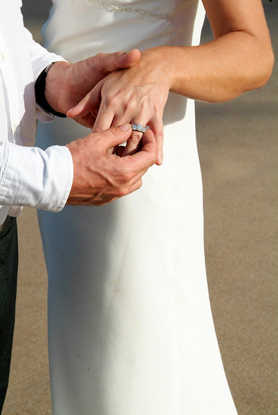 Exchanging rings in Barbados by Barbados Photography. www.barbados-photography.com